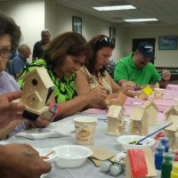Painting bird houses